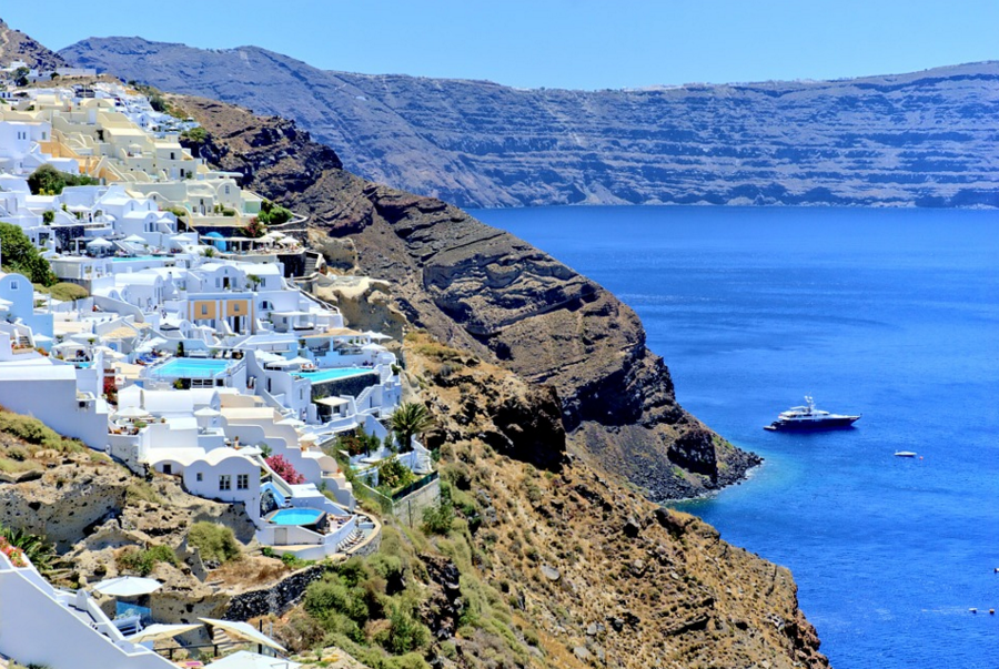 Greek Islands on a private chartered yacht